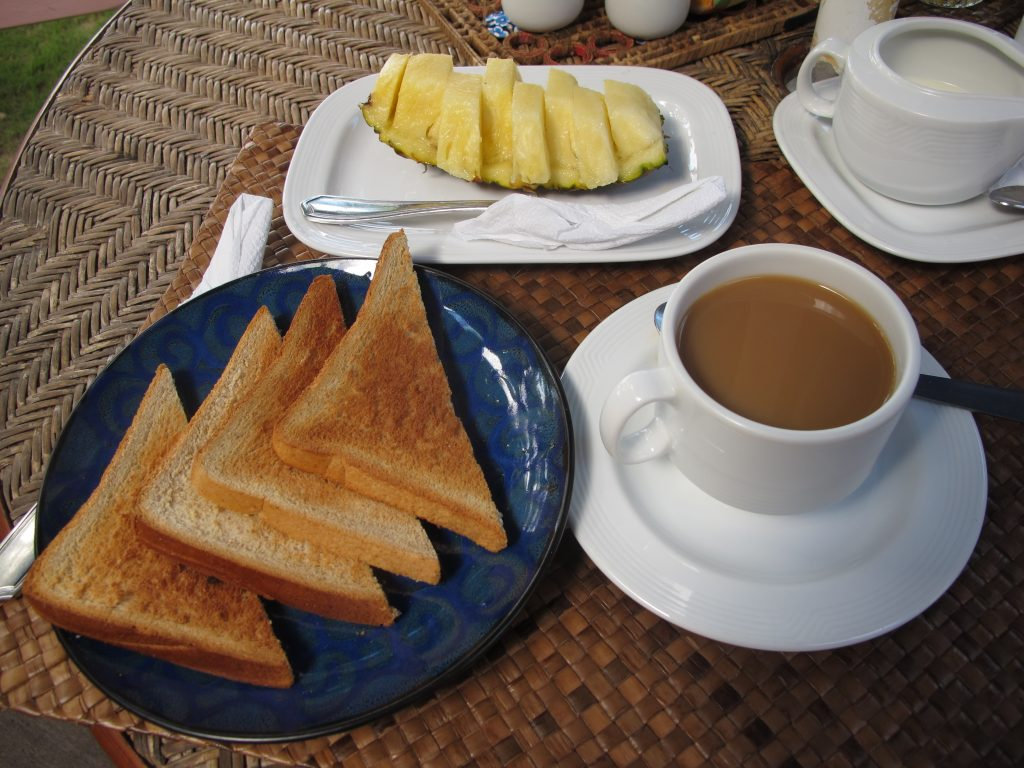Breakfast on the 2nd day.