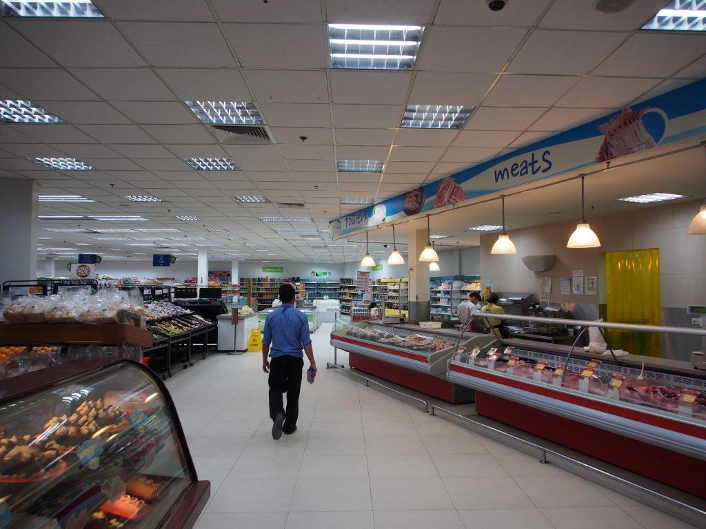 Inside Metro supermarket.