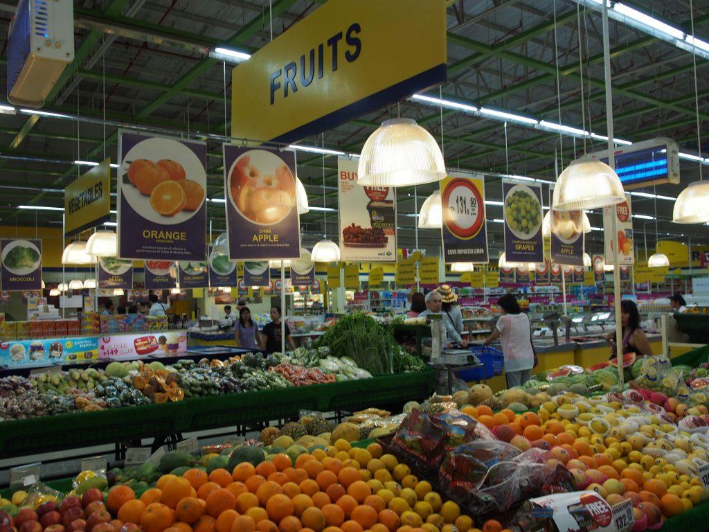 Inside Savemore supermarket.