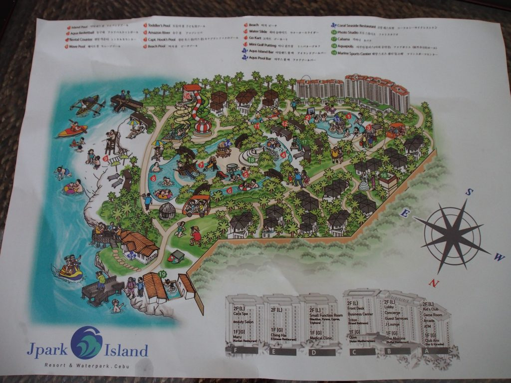 Map of the resort.