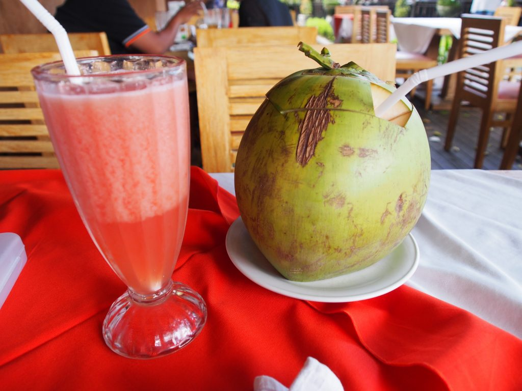 Juice and coconut.