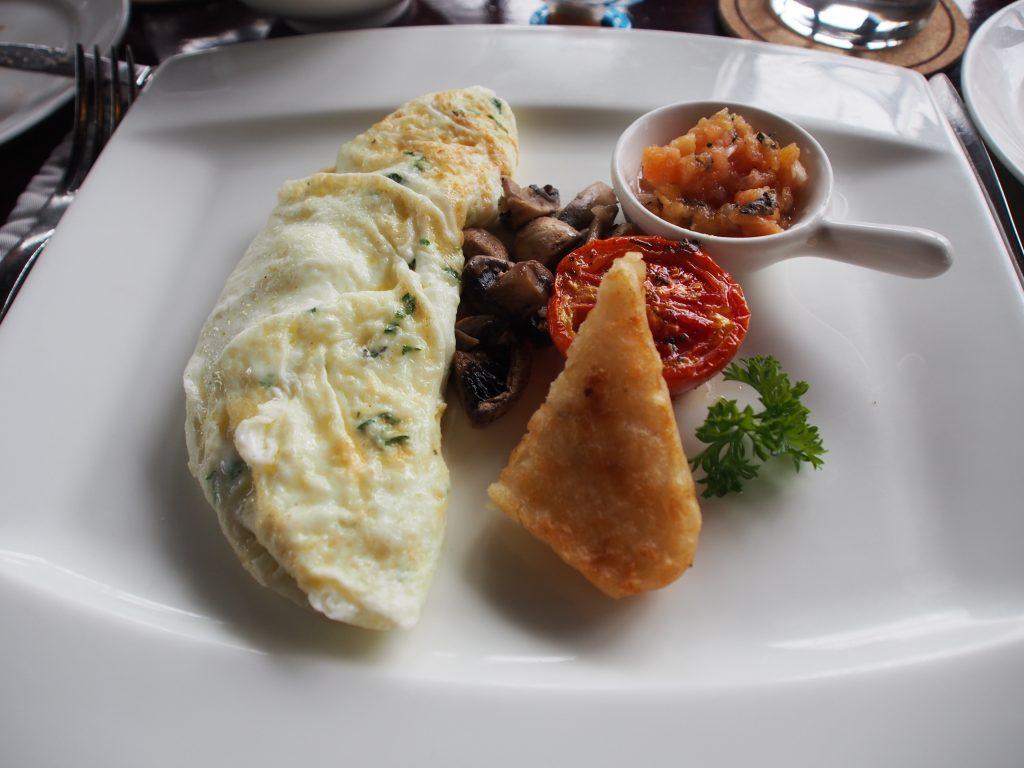 White omelette.