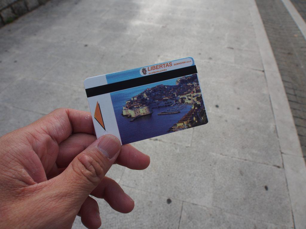 Bus tickets.