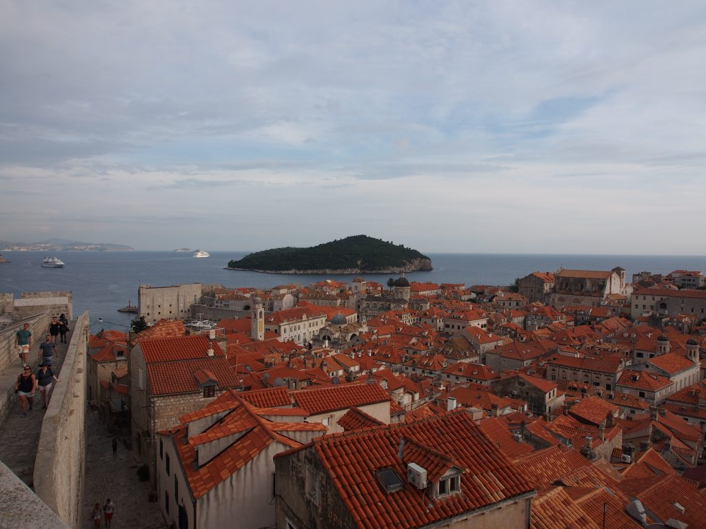 Famous orange roofs of Dubrovnik old town