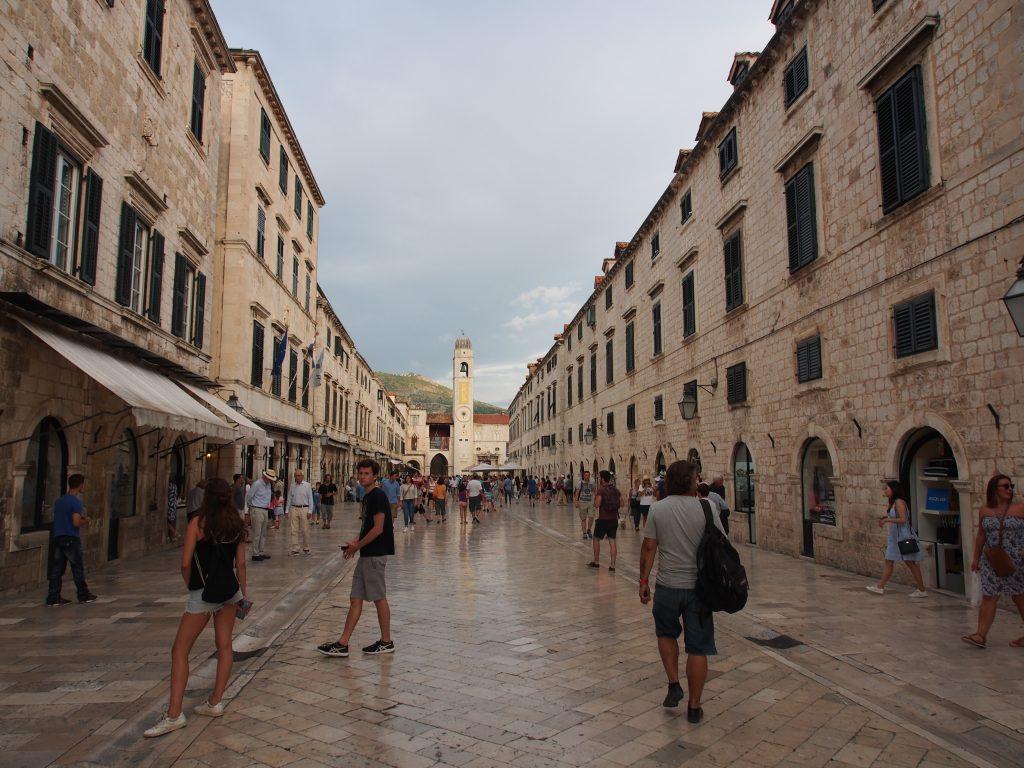 Main street of Dubrovnik old town.